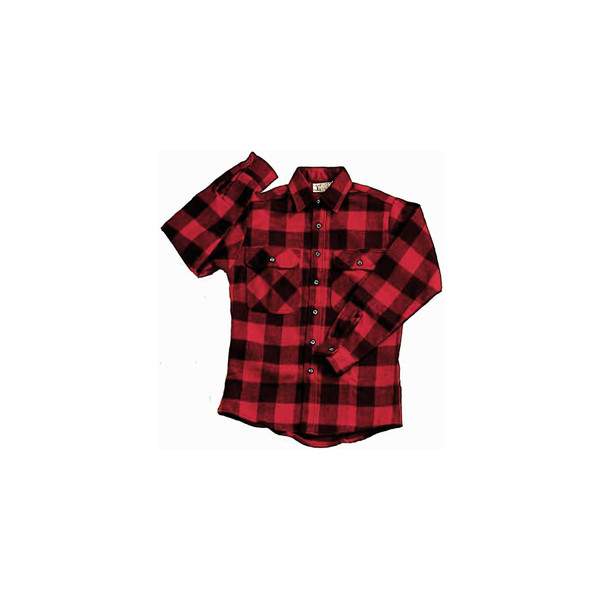 Red Black Buffalo Plaid Extra Heavyweight Brawny Flannel Shirt - Polyvore