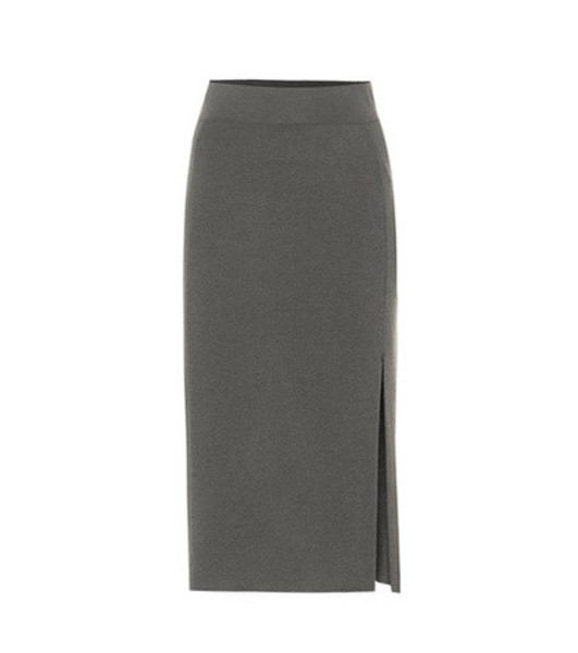 81hours Tad wool midi skirt in grey