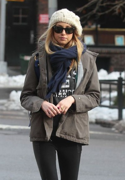 whitney port jacket scarf