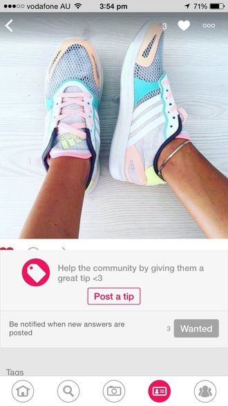 shoes adidas adidas runners sneakers blue white sports shoes colorful grey yelllow pink adidas shoes