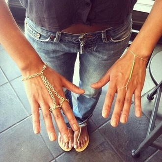 jewels hand jewelry cute hipster tumblr jewelry gold hand chain bracelets