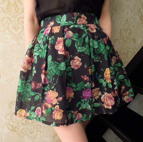 Cute floral skirt from doublelw on storenvy