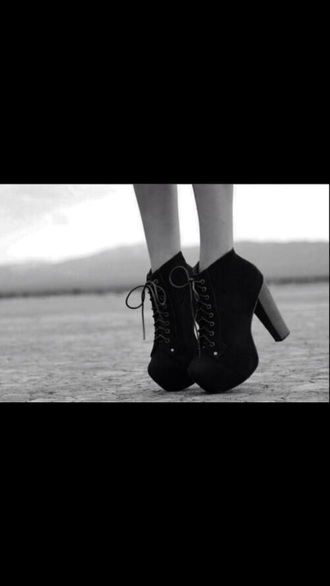 shoes black shoes boots big heel