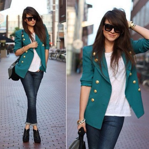 jacket gold buttons