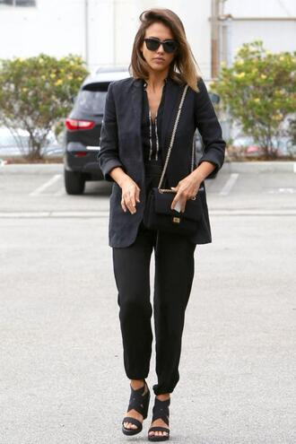 shoes sandals jessica alba pants jacket