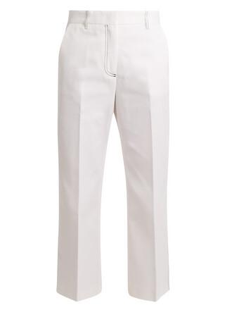 denim white pants