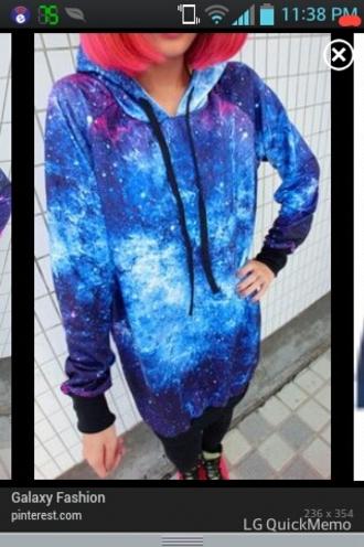 sweater galaxy print loose cosmic beautiful