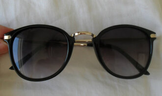 sunglasses black gold black and gold summer festival 2013 style