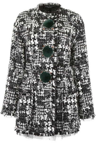 Dolce & Gabbana Tweed Blazer With Crystals