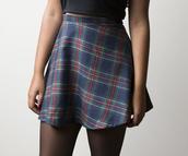 skirt,90s skirt,clothes,mini skirt,plaid,plaid skirt,tartan skirt,tartan,skater skirt,plaid flannels,blue skirt
