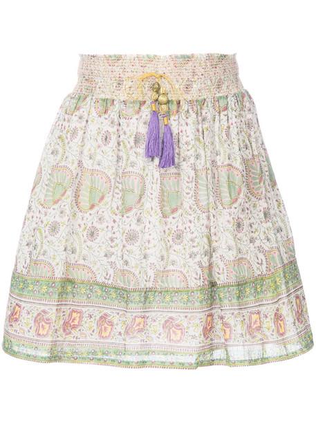 skirt patterned skirt high waisted high women cotton silk