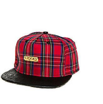 hat crooks and castles cap red plaid