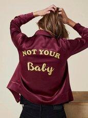 jacket,not yours,not your baby,burgundy,dark,grunge,art,bad,girl,fashion,feelings,cyber,white,black,soft ghetto,ghetto,tumblr,teenagers,nike,life,gold,aesthetic,alternative,cyber ghetto,cyber grunge