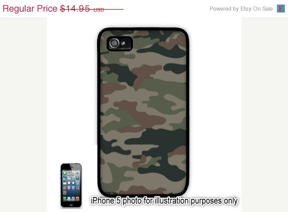 Dark camoflauge camouflage iphone 5 case pattern slim by blingsity