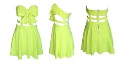 shiping libre de moda arco jaula vestido de fiesta vestido de nuevo hueco j321 vestido