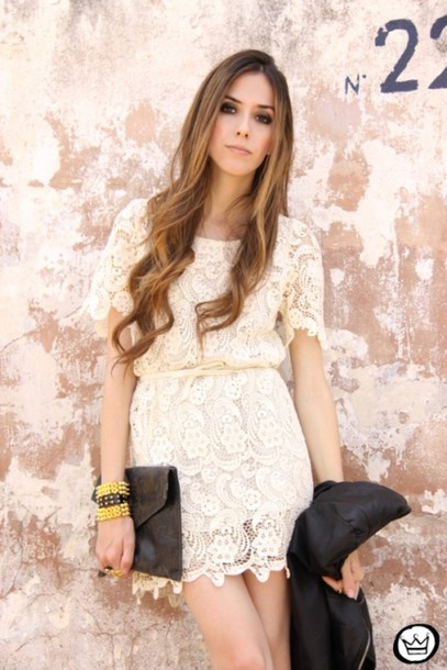 dress lace dress white dress cream dress beige dress