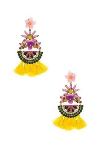 statement earrings statement earrings yellow jewels