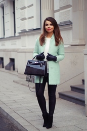 a piece of anna,blogger,coat,bag,pants,shoes