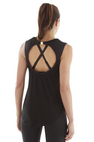 top michi activewear black top workout top bikiniluxe