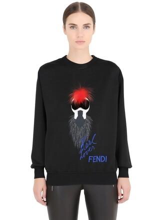 sweatshirt fox cotton black sweater