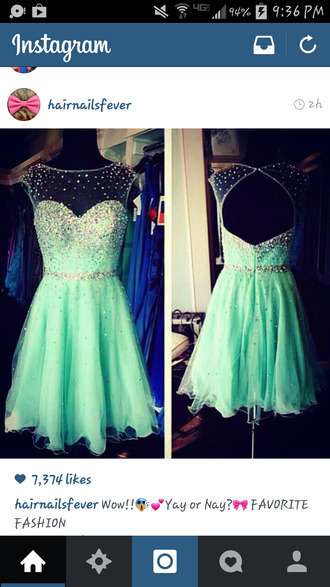 mint green dress sparkly mint-green dress sweetheart neckline backless sparkles teal dress