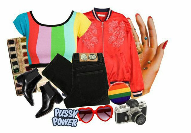 shirt rainbow crop tops short lgbt crop tops colorful