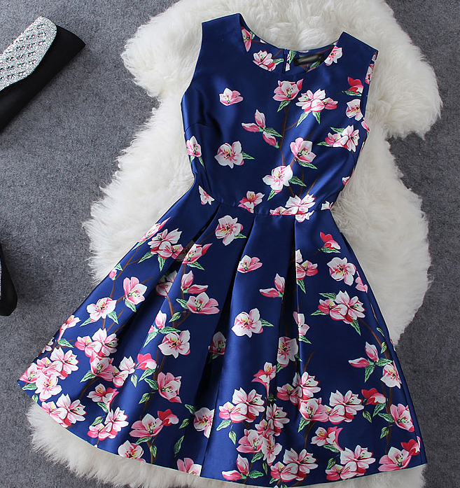 Fashion hot flower elegant dress