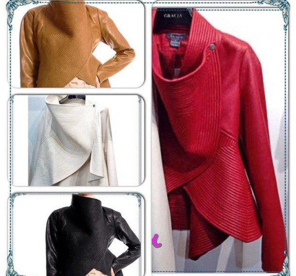coat pleated peplum jacket
