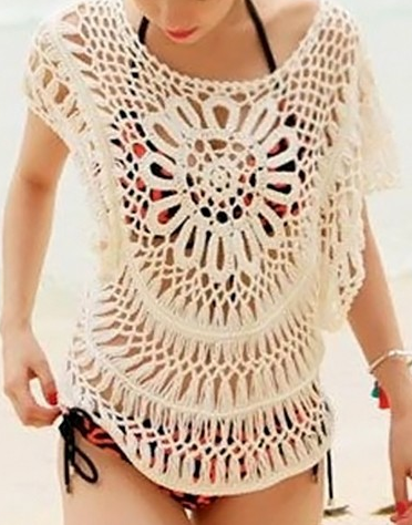 Crochet Bathing Suit : Hollow out Crochet Bathing Suit Cover up