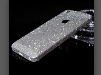 phone cover iphone iphone case iphone 6 case glitter dress silver glitter crystal quartz rhinestones phone decal sparkly dress
