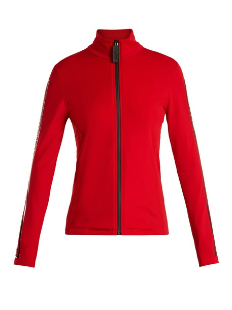 Fendi jacket zip red