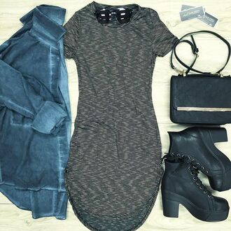 dress bodycon dress black dress stripes striped dress jacket