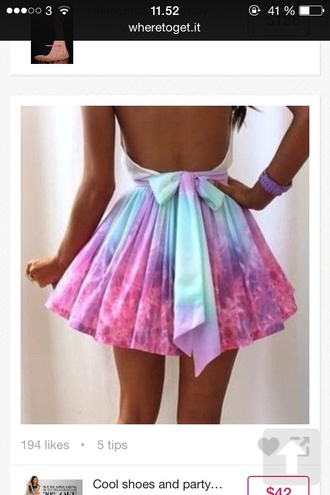 dress colorful bow back dress open back dress