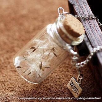 jewels dandelion necklace necklace long necklace dandelion pendant dandelions wish necklace nature jewelry valentines day gift idea christmas gift for her christmast gift pendant