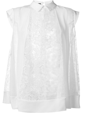 top embroidered white