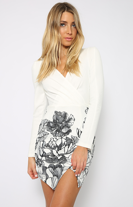 Jenna Dress - White