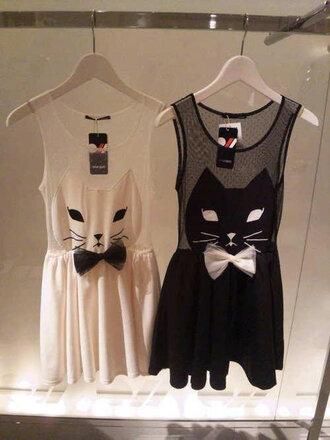 dress cats b&w kitty silhouette