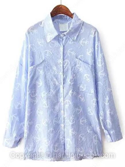 anchor blouse top