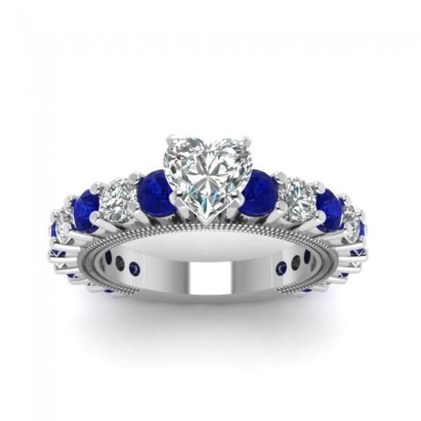 fashion rings women fashion engagement ring evolees.com HEART SHAPED