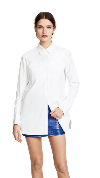 shirt button up shirt blanc top