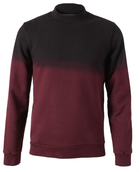 Raf simons red handdyed ombre cotton sweater