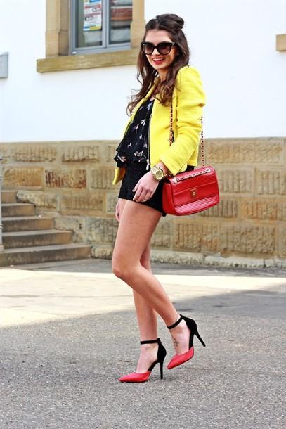 fashionhippieloves jacket shirt shorts bag shoes sunglasses jewels