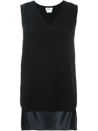 tank top top high high low black