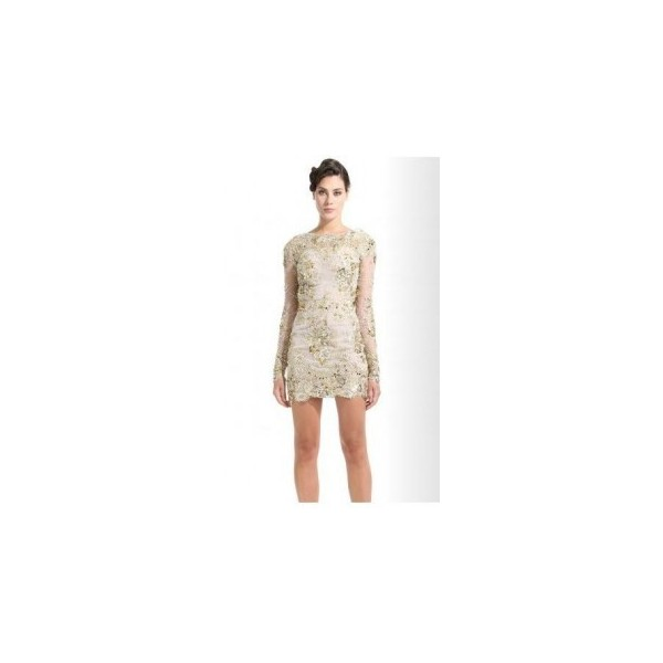 Zuhair Murad Pre-Fall 2012 Floral Lace Embroidered Dress - Polyvore