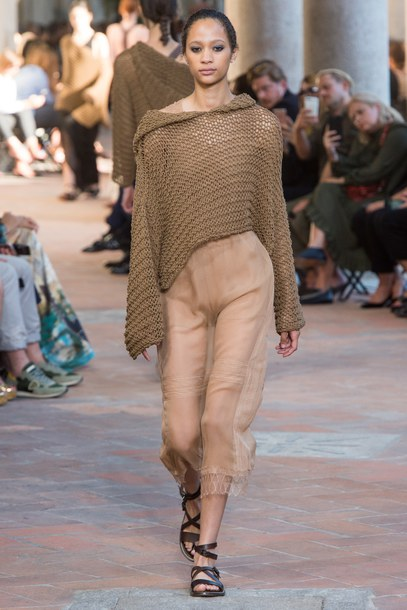 on runway nude