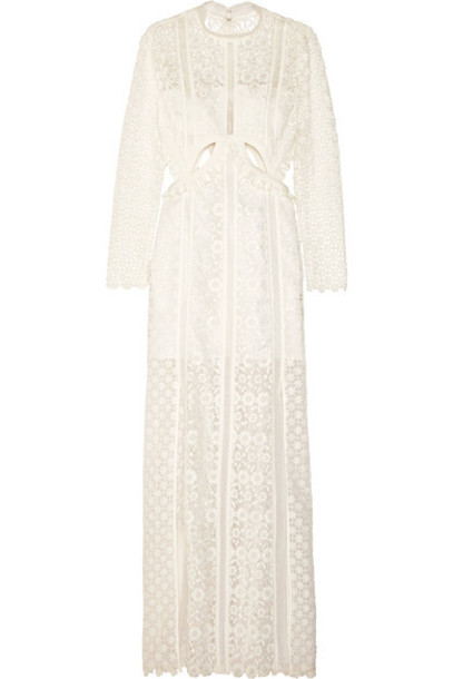 gown lace white dress