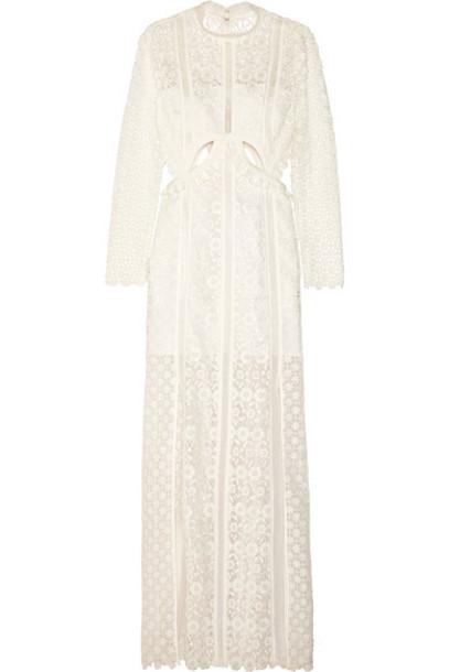 self-portrait gown lace white dress