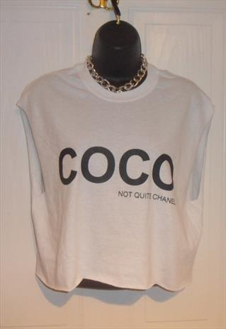 unisex customised COCO grunge crop top t shirt M | mysticclothing | ASOS Marketplace