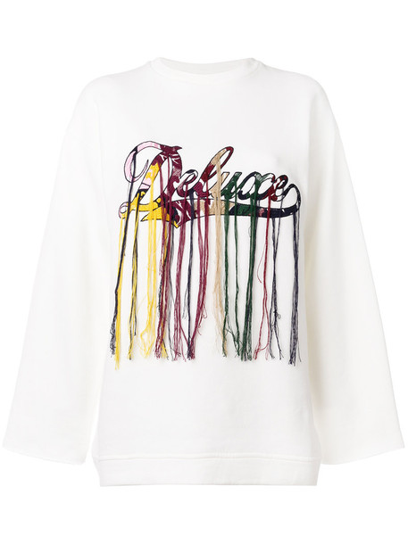GOLDEN GOOSE DELUXE BRAND sweatshirt embroidered women white cotton sweater