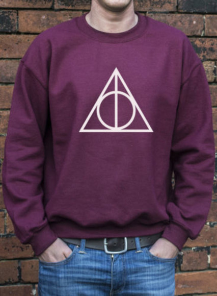 harry potter sweater sweatshirt deathly hallows crewneck sweater